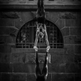 acrobatic duo at a castle
