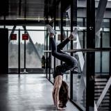 acrobatics at the airport