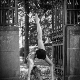 two gymnasts in the park